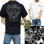 エドハーディー ed hardy Tシャツ メンズ デビル/小悪魔 刺繍 ウイング ポケット 半袖 ブラック/ホワイト サイズM-XL