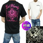 エドハーディー ed hardy Tシャツ メンズ スカル/ラブキル 刺繍 ポケット 半袖 ブラック/ホワイト ピンク刺繍