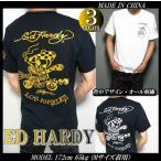 エドハーディー ED HARDY Tシャツ メンズ 半袖 ゴールド/刺繍/ライダースカル