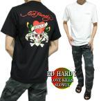 エドハーディー ed hardy Tシャツ メンズ 背中/ラブキル/スカル/ドクロ 半袖 ブラック/ホワイト サイズM-XL