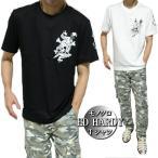 エドハーディー ed hardy Tシャツ メンズ モノクロ/ナイフ/スカル/ドクロ 半袖 ブラック/ホワイト サイズM-XL