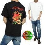 エドハーディー ed hardy Tシャツ メンズ モノスカル/ドクロ/ビリヤード 半袖 ブラック/ホワイト サイズM-XL