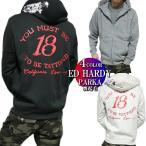 エドハーディー ed hardy ジップ/パーカー メンズ 薄手 /スカル/ラブキル ブラック/グレー/ホワイト/ネイビー 正規ライセンス M-XL