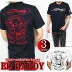 エドハーディー Tシャツ メンズ ED HARDY 半袖 刺繍/デビル/小悪魔