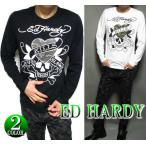 ED HARDY エドハーディー Tシャツ ロンT メンズ スカル/ドクロ 迷彩