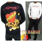 ED HARDY エドハーディー Tシャツ ロンT メンズ ビッグ スカル/ドクロ