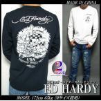ショッピングスカル エドハーディー Tシャツ ロンT メンズ ライダースカル 刺繍ロゴ ED HARDY