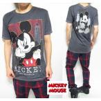 tシャツ メンズ 半袖 ミッキーマウス/ディズニー/チャコール ミニットマース