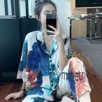 パジャマ レディース 春夏 五分袖パジャマ ショットパンツ 薄手 ルームウェア上下セット 絞り染め色 パジャマ 可愛い 部屋着 韓国風 寝巻き パジャマ プレゼント