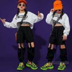 ヒップホップ セットアップ キッズ ダンス衣装 HIPHOP 子供服 チェック柄 長袖 トップス パンツ 長ズボン タンクトップ 女の子 チアガール 演出服 練習着