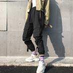 ボトムス カーゴパンツ ロゴ スポーティ ユニセックス ダンス 衣装 韓国 ファッション 大きいサイズ 個性的 服 原宿系 男女兼用