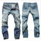 デニムパンツ メンズ ジーンズ 大きいサイズ 男性 ダメージ加工 個性 ボトムス ズボン 秋 デニム ヴィンテージ ジーンズメンズ