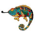 アイロンワッペン ワッペン 動物・魚・生き物ワッペン 刺繍ワッペン カメレオン アイロンで貼れるワッペン