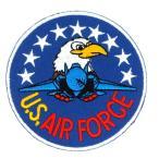 アイロンワッペン ワッペン アーミー・ポリスワッペン 刺繍ワッペン US AIR FORCE アイロンで貼れるワッペン