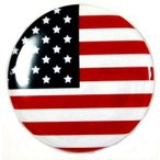 缶バッジ 国旗 アメリカ USA 38mm ピンバッジ