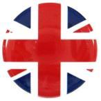 缶バッジ 国旗 イギリス ユニオンジャック 38mm ピンバッジ