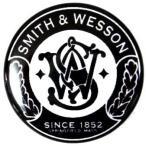 缶バッジ アーミー・ポリス SMITH&WESSON 黒 38mm ピンバッジ