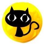Other - 缶バッジ 黒猫 クロネコ 38mm ピンバッジ