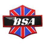 アイロンワッペン  ワッペン 車・バイク(タイヤ・オイル・その他)ワッペン 刺繍ワッペン BSA アイロンで貼れるワッペン