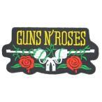 アイロンワッペン  ロック バンド 音楽(バンド) ワッペン 刺繍ワッペン GUNS'N'ROSES ガンズアンドローゼス アイロンで貼れるワッペン
