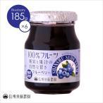 信州須藤農園 100%フルーツ ブルーベリージャム 185g 1ケース(6個入り) 砂糖不使用 フルーツスプレッド ジャム