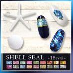 【新商品】 シェル風 ネイルシール  貝殻 薄い マニキュア ジェルネイル ネイルアート レジン デコ
