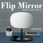 Yahoo!ShinwaShop【normann COPENHAGEN】Flip Mirror フリップミラー ノーマン コペンハーゲン/スチール/鏡/スタンドミラー/ガラス/ハビエル モレノ/鏡台