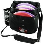 Disc Living ディスクゴルフバッグ フリスビーゴルフバッグ 軽量フィット 10枚まで対応 ベルトストラップ