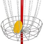 BBBuy ポータブルディスクゴルフバスケット、軽量スチール練習ターゲット スチールフリスビー穴ディスクゴルフゴールキャッチャー