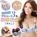 ショッピングブラジャー 【送料無料】 大人可愛い 豪華 ブラジャー単品 3本セット おまかせ 福袋