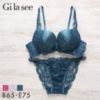 (ギャラシー)Gi la see 美乳ブラ ベーシック Wパッド 3/4カップブラショーツセット