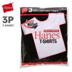 10%OFF (ヘインズ)Hanes 赤ラベル 3PクルーネックTシャツ