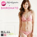 (ハラークイン) Harlequin SHIROHATOコラボ フロートフラワー刺繍 ノンワイヤー 三角ブラセット M L LL