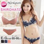 ショッピングブラ (ハラークイン) Harlequin SHIROHATOコラボ 華やかランジェリー ビクトリア調刺繍ブラセット クイーンサイズ EFG レディース 下着