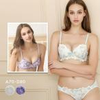 全品P5倍2/24迄 SHIROHATO限定販売 華やか花柄刺繍 ブラショーツセット ABCD 盛りブラ 谷間ブラ