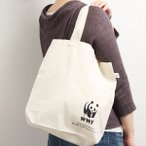 エコバック レディース メンズ WWF リサイクル コットン パンダ キャンパス 布製 綿 メール便(8)