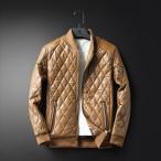 レザージャケット レザーコート 春秋用 メンズ puジャケット アウター 裏起毛 パーカー バイクウェア バイクジャケット 暖かい 防風防寒