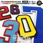 ふち刺繍(ブロック体|数字)オーダー数字ワッペン(5cm/6cm)/6色/アイロン接着/オリジナル・ユニフォームの袖番号・胸番号に