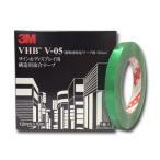 【2巻までメール便OK】3M VHBテープ V-05 /テープ厚:0.5mm、透明材料用、12mm×10m、両面テープ