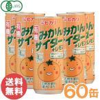有機みかんサイダー+レモン(250ml×30本)2ケース ヒカリ まとめ買い