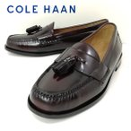 コールハーン ピンチタッセル バーガンディ ローファー 靴 メンズ 3507 240画像