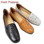 Hush Puppies ハッシュパピー L-5203-100-300-088 パンチング レザー デザイン シューズ ウェッジ パンプス スリッポン レディース
