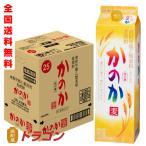 送料無料/かのか 麦 25度 甲乙混和焼酎 紙パック 1.8L×6本 1ケース 1800ml アサヒ むぎ焼酎