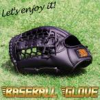 野球 グローブ 黒 成人用  グローブ右手装着用 左投げ用