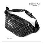 ボディバッグ EVERSOULPLUS ワンショルダー ウエストバッグ 星形 星 スタッズ ロックテイスト レザー トレンド 鞄 カジュアル メンズ 送料無料
