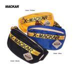 ボディバッグ MACKAR ウエストバッグ ヒップバッグ ロゴテープ ストリート スポーツテイスト 軽量 トレンド 鞄 カジュアル ブランド 男性用 メンズ