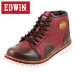エドウィン  EDWIN EDM-350P メンズ   レースアップブーツ   ショートブーツ 編み上げ   チェック柄   レッドブラウン
