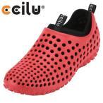 ショッピングサボ チル  ccilu 303005003 M|ccilu-AMAZON メンズ|レッド×ブラック