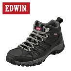 ショッピングトレッキングシューズ エドウィン EDWIN EDM-674P メンズ | ライトトレッキングシューズ | ミッドカット ハイカット | 生活防水機能 | ブラック