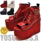 ショッピングブーツサンダル 厚底サンダル レディース ブーツサンダル YOSUKE ヨースケ 靴